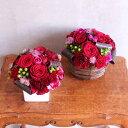 花 【フロレアル】ベーシックアレンジメントMサイズ(器2種・花6色〜ご選択)あす楽 送料無料 バラ プレゼント フラワ…