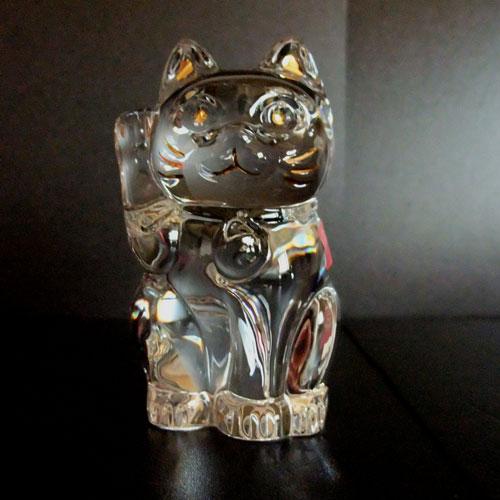 バカラ グラス 名入れ招き猫 クリア 2-607-786(まねき猫)【結婚祝】【出産祝】【退職祝】【引越祝】【還暦祝】【記念品】