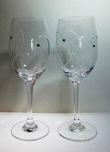 結婚祝いギフトセットペア名入れ込み【ウェッジウッド】(WEDGWOOD)プロミシス トゥー ハーツ ワイン ペア
