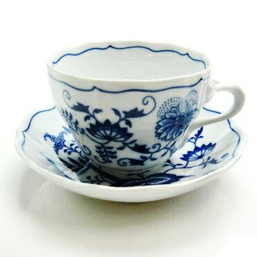 【カールスバード】ブルーオニオンコーヒーカップ/ソーサー【結婚祝】【出産祝】【退職祝】【引越祝】【還暦祝】【記念品】