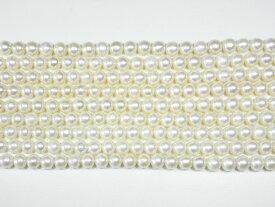 淡水パール pearl01 ホワイト 約7-8×6mm (真珠 ビーズ)