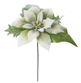 アートフラワー フローズンポインセチアピック グリーン @110×32Dセット FS -6932 GR 《2018ds》| 造花 お手入れ不要 冬 ウィンター アレンジ 花材 ブーケ