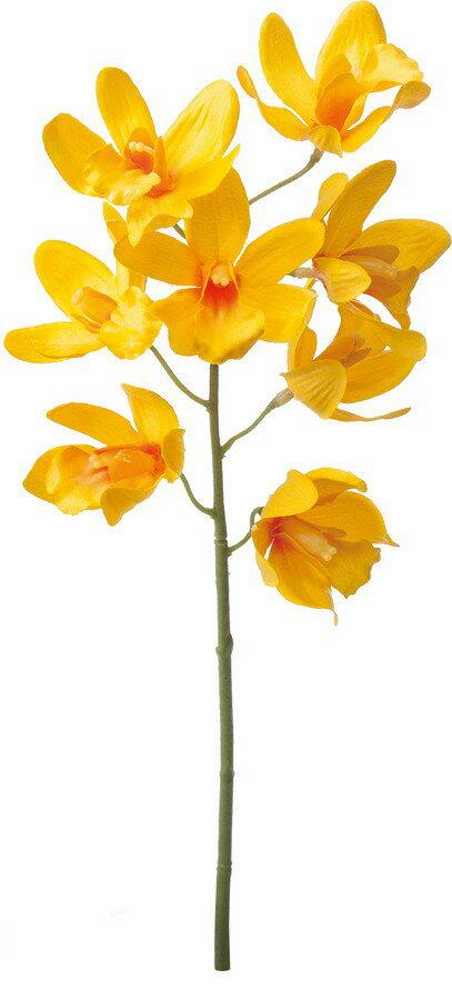 アートフラワー シンビジューム イエロー @350×10本セット FA -6646 Y 《2018ds》| 造花 お手入れ不要 秋 オータム アレンジ 花材 ブーケ シック ハロウィン