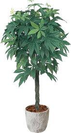 アートフラワー パキラ1.8m @21000x1コセット GLPS-2003 《2018ds》 | 造花 お手入れ不要 アレンジ 観葉植物 グリーン インテリアグリーン 室内 ディスプレイ お手軽 装飾 飾り 花資材 グリーンポット 花材 パキラ