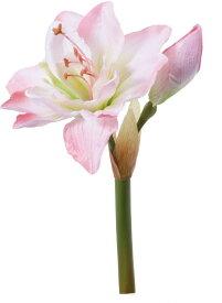 アートフラワー アマリリスピック ピンク @350x10コセット FA -6697 P 《2018ds》 | 造花 お手入れ不要 アレンジ アマリリス 花材