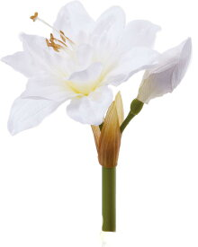 アートフラワー アマリリスピック ホワイト @350x10コセット FA -6697 W 《2018ds》 | 造花 お手入れ不要 アレンジ アマリリス 花材