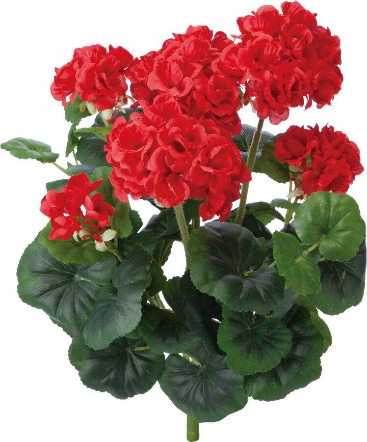 アートフラワー ゼラニウムブッシュ レッド @1190x4コセット GL -5206 R 《2018ds》 | 造花 グリーン 観葉植物 ディスプレイ お手入れ不要 お手軽 アレンジ ブッシュ 花材 アレンジメント 花資材 ゼラニウム