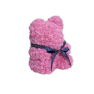 フラワードール ベアMサイズ ピンク 2個セット FAD9BMP《2019mil》| 造花 クマ 動物 フラワー アレンジ デコレーション ディスプレイ アートフラワー