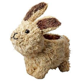 アニマルプランター大自然 ウサギ 4個セット 4484-RA 2020green   花器 ポット 鉢 フラワー 多肉 サボテン グリーン アレンジ アニマル ナチュラル 自然素材