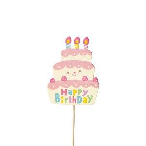 木製クリップピックバースデイピック ケーキ 36本セット 3799 2021green | ピック メッセージ アレンジ フラワー グリーン ギフト プレゼント 誕生日