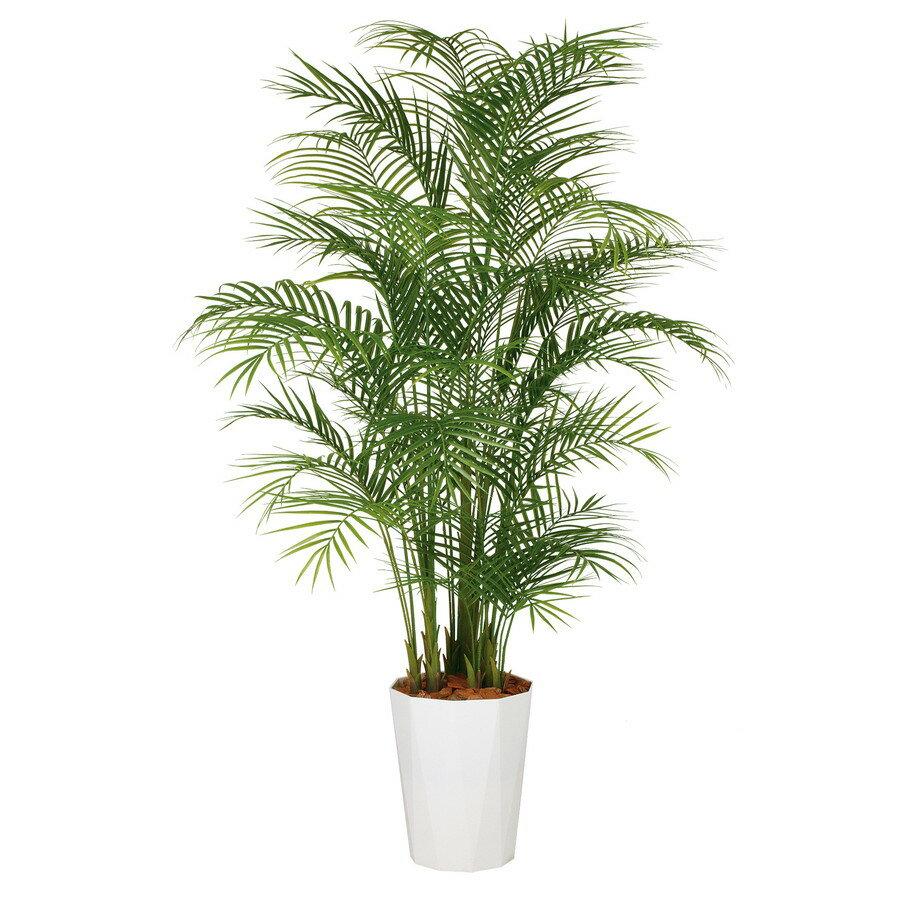【人工観葉植物】アレカヤシ PE MIX 220 (器:クォーツ360) 99162 フェイクグリーン イミテーション インテリア オフィス 店舗 造花 おしゃれ 観葉植物 大型 観葉植物 おしゃれ 観葉植物 インテリア 《2018ds》
