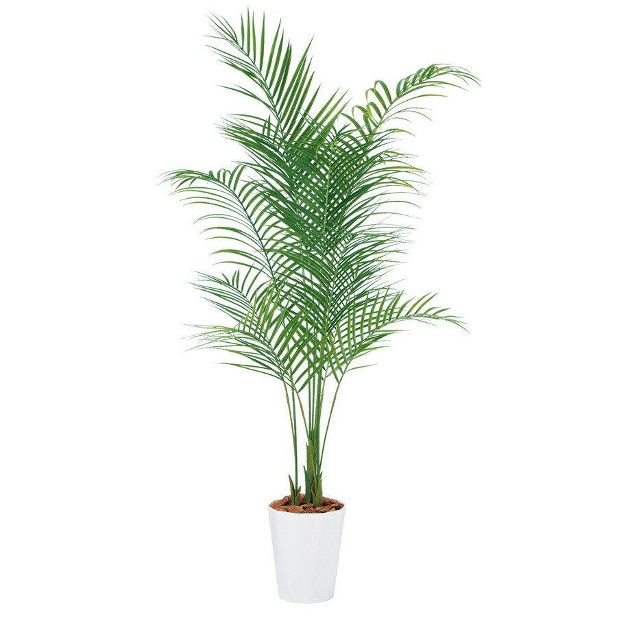 【人工観葉植物】アレカヤシ PE 180 (器:クォーツ240) 99156 フェイクグリーン イミテーション インテリア オフィス 店舗 造花 おしゃれ 観葉植物 大型 観葉植物 おしゃれ 観葉植物 インテリア 《2018ds》