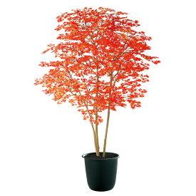 人工観葉植物 ヤマモミジ株立 200 RED FST (器:ツリー8(BK)) 91771|フェイクグリーン イミテーション インテリア 禅モダン 和風 造花 観葉植物 大型 観葉植物 おしゃれ 観葉植物 インテリア 《2018ds》