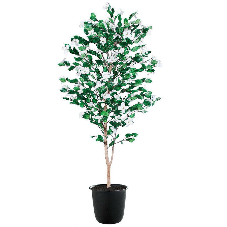 【人工観葉植物】ハナミズキ 150 (器:ツリー7(BK)) 91782|フェイクグリーン イミテーション インテリア 和風 造花 お手入れ不要 観葉植物 大型 観葉植物 おしゃれ 観葉植物 インテリア 《2018ds》