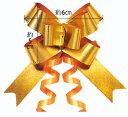 メール便送料無料 リボンボウ ゴールド(50枚入り) 36mm