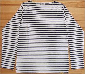 D.M.G ドミンゴ DMG 19-068N 92-8 ボートネックシャツ ナチュラル×ネイビー バスクシャツ ボーダー カットソー バスクT ロンT BD天竺 MadeinJAPAN 日本製