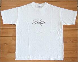 メール便可 Quand クアンド 天竺プリントTシャツ Relay ホワイト TEE カットソー 半袖 nappalm ナップパーム 203947679