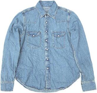 D.M.G Product made in Domingo DMG 18-722E(21-3) western shirt S ユーズドデニムシャツ MadeinJAPAN Kojima, Kurashiki Japan