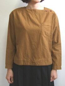D.M.G ドミンゴ DMG 16-488T 38-5 スクエアネックシャツ フランネル Flannel コットン ネル フラノ ブロンズ MadeinJAPAN 日本製