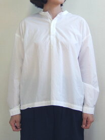 D.M.G ドミンゴ DMG 16-534X 31-8 バックオープンシャツ プルオーバー ブロードシャンブレー ホワイト 白 MadeinJAPAN 日本製