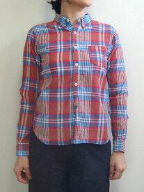 D.M.G ドミンゴ DMG 16-387X 27-8 チェックシャツ ボタンダウンシャツ ブルー ブラスト MadeinJAPAN 倉敷 児島 日本製