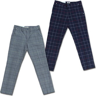 D.M.G Domingo DMG 13-791X uncleslimtrauser pants check window pen check stretch ankle cut tapered 10P10Jan15