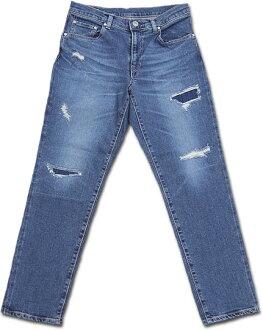 D.M.G Domingo DMG 13-761D 92-5 5 p Uncle slim denim pants jeans remake damage stretch ankle cut Made in JAPAN made in Japan P11Sep16