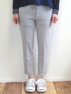 D.M.G MadeinJAPAN made in Domingo DMG 13-918L 13-5 ankle slim trouser underwear gray linen stretch hemp ankle cut tapered Kojima, Kurashiki Japan