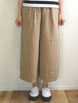 D.M.G Product made in Domingo DMG 14-058L 36-2 linen culottes Mocha brown beige culottes underwear long culottes linen hemp wide underwear MadeinJAPAN Japan