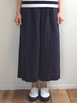 D.M.G Product made in Domingo DMG 14-058L 29-2 linen culottes navy-blue culottes underwear long culottes linen hemp wide underwear MadeinJAPAN Japan