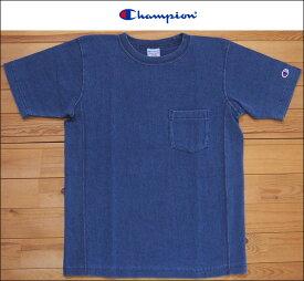 Champion チャンピオン リバースウィーブTシャツ C3-H307 ストーンウォッシュブルー REVERSE WEAVE 9.4oz TEE クルーネック カットソー