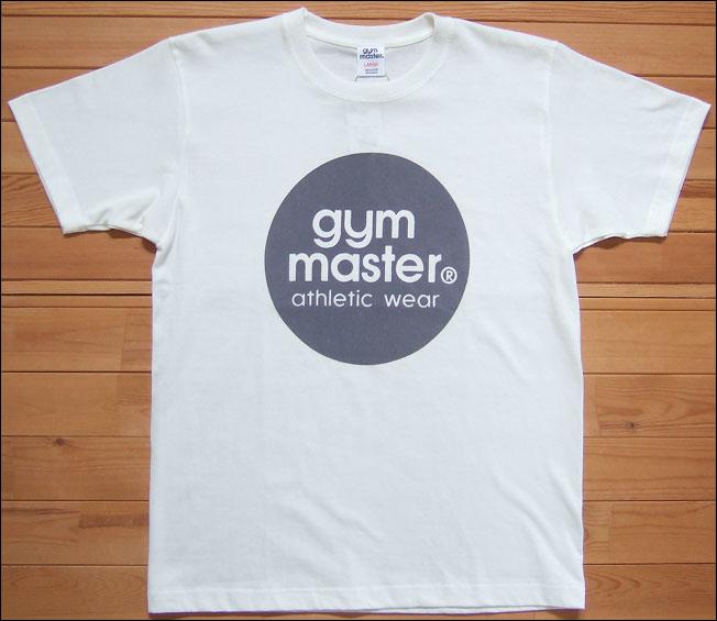 【メール便可】gym master ジムマスター サークルロゴTee Tシャツ ホワイト×グレー サークル ロゴ フロッキー カットソー 半袖 G799301