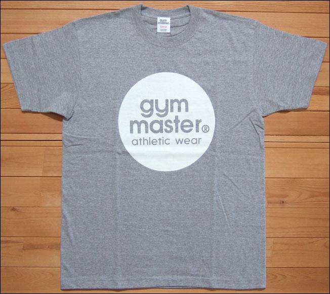 【メール便可】gym master ジムマスター サークルロゴTee Tシャツ グレー×ホワイト サークル ロゴ フロッキー カットソー 半袖 G799301