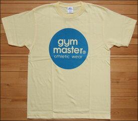 【メール便可】gym master ジムマスター サークルロゴTee Tシャツ イエロー×サックス サークル ロゴ フロッキー カットソー 半袖 G799301