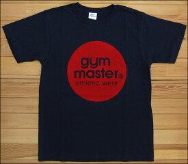 【メール便可】gym master ジムマスター サークルロゴTee Tシャツ ネイビー×レッド サークル ロゴ フロッキー カットソー 半袖 G799301