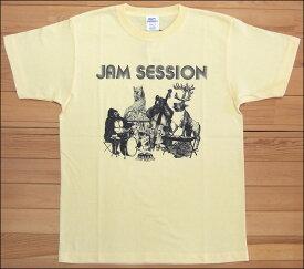 【メール便可】gym master ジムマスター JAM SESSION Tee Tシャツ ライトイエロー アニマル カットソー 半袖 G279651