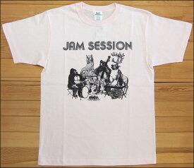 【メール便可】gym master ジムマスター JAM SESSION Tee Tシャツ ライトピンク アニマル カットソー 半袖 G279651