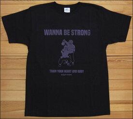 【メール便可】gym master ジムマスター WANNA BE STRONG Tee Tシャツ ブラック 酔拳 DRUNKEN MASTER カットソー 半袖 G280675
