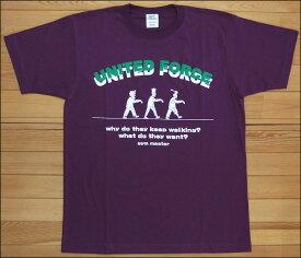 【メール便可】gym master ジムマスター UNITED FORCE Tee Tシャツ パープル ゾンビ ZOMBIE カットソー 半袖 G279649