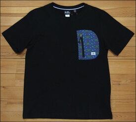 メール便可 gym master ジムマスター ハッピーペイントポケットTee Tシャツ ブラック コブダイ カットソー 半袖 G233694