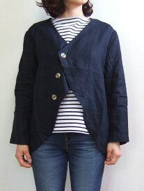 MINELAL ミネラル ヘンプVネックジャケット ネイビー Hemp V-neck jacket nappalm ナップパーム 麻 110938370