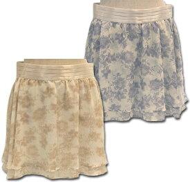 PAGEBOYページボーイ/フラワープリントレイヤードスカート