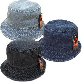 メール便可 NEWHATTAN ニューハッタン バケットハット BUCKET HAT デニム サファリハット 帽子 アウトドア キャンプ フェス 男女兼用