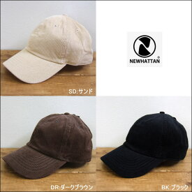 NEWHATTAN ニューハッタン コーデュロイキャップ ベースボールキャップ 帽子 ベロア 男女兼用