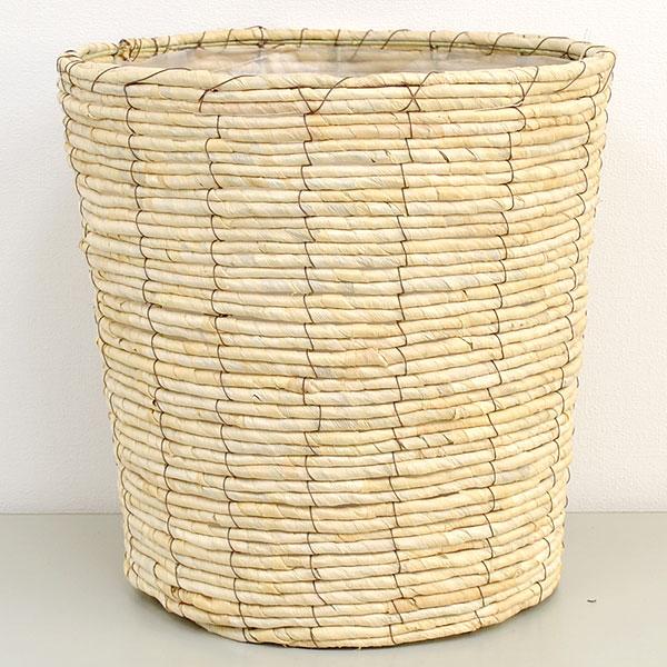 大鉢(10号)用 鉢カバー メイズ ホワイト