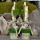 【送料無料】門松 1.7m竹タイプ 一対【販売/通販/お正月飾り/大型/玄関/オフィス/会社/店/マンション/1対/本格】