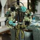リース・マニフィーク/プリザーブドフラワー ギフト/ブリザードフラワー/【SALE セール】【フラワーギフト】お返し,敬老の日,内祝い,花…