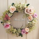 【送料無料】人気のバラのリース♪シャルマン/枯れないお花プリザーブドフラワーのアレンジです。リースの贈り物。誕生日・壁飾り・送…