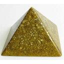 ボヘミアンオルゴナイト チャクラピラミッドオブジェ(ゴールド) 《オルゴナイト》 10×6.5cm 空間がパワースポット…