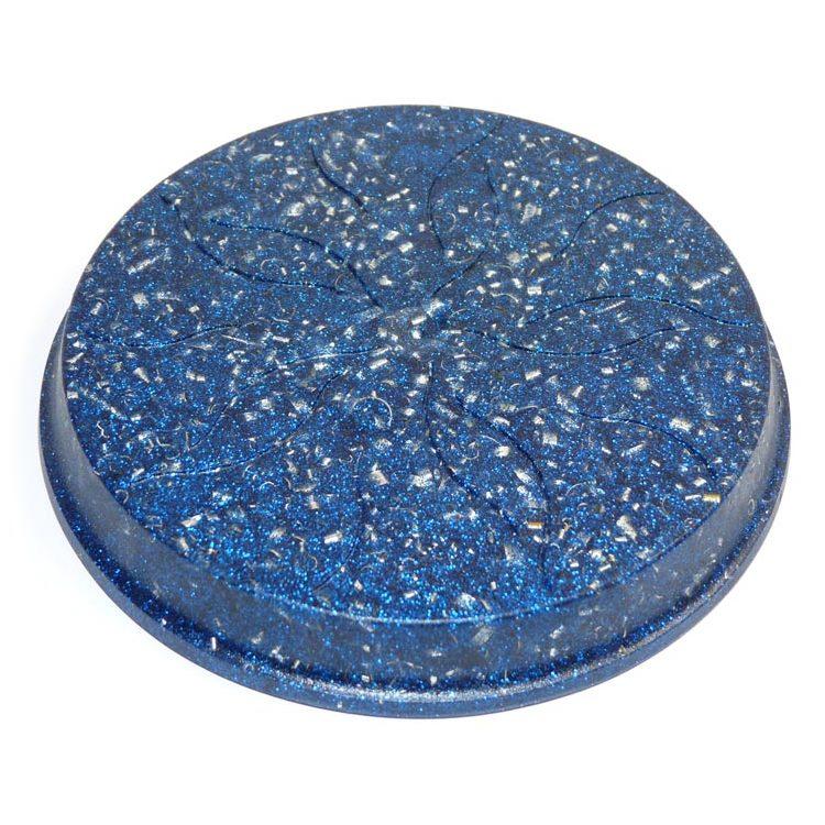 ボヘミアンオルゴナイト ブルーのコースター《オルゴナイト》 12.5×1.5cm 空間がパワースポットになるオルゴナイト スピリチュアルの国チェコの認定ボヘミアンオルゴナイト[オルゴナイト/ボヘミアンオルゴナイト/パワーストーン/天然石/オルゴナイト/正規輸入品/コースター]
